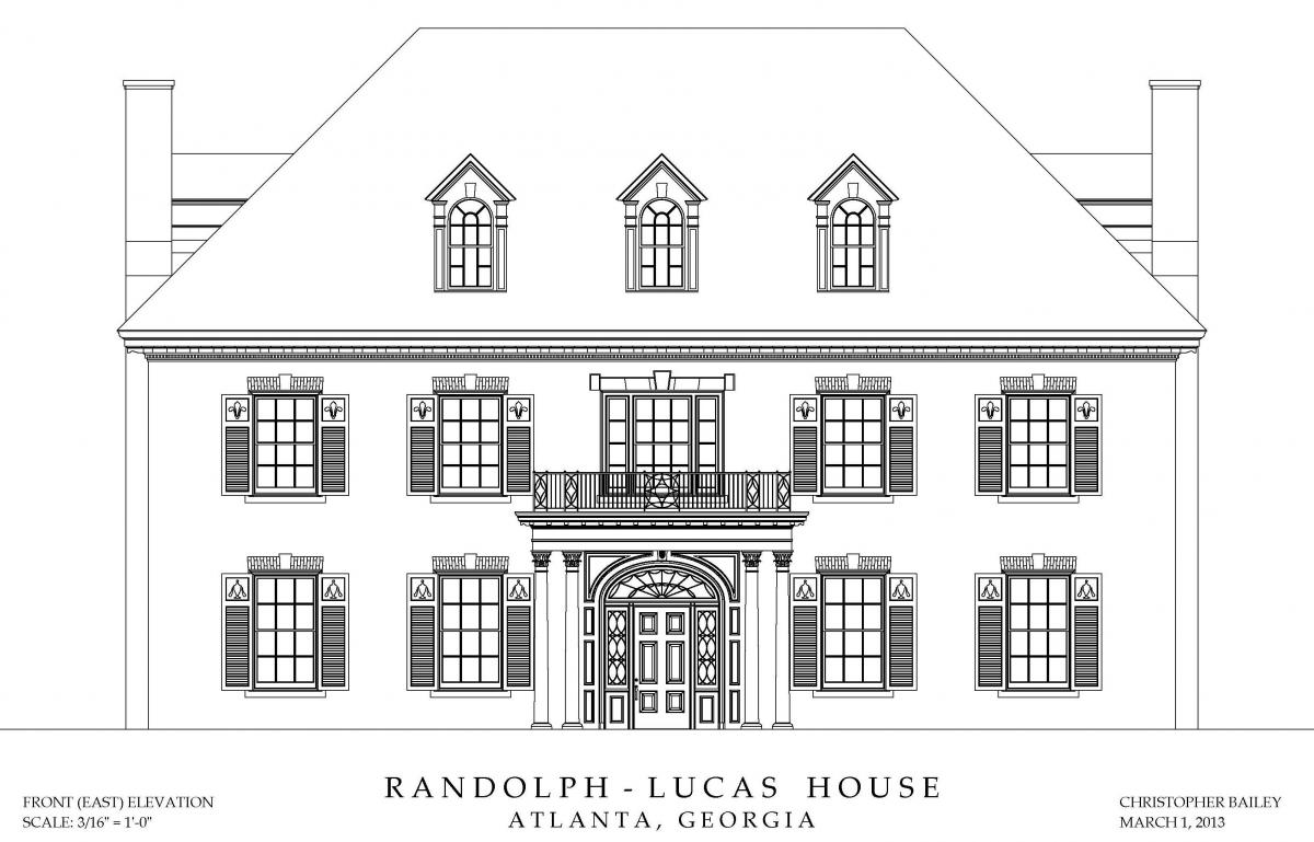 Randolph-Lucas House Front Elevation